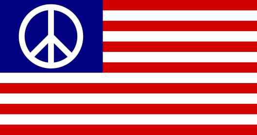 Peace American Flag
